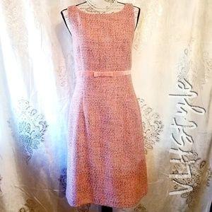 NWT Vintage Style Pink Tweed Dress